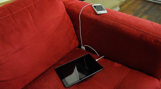 Chaise longue con USB