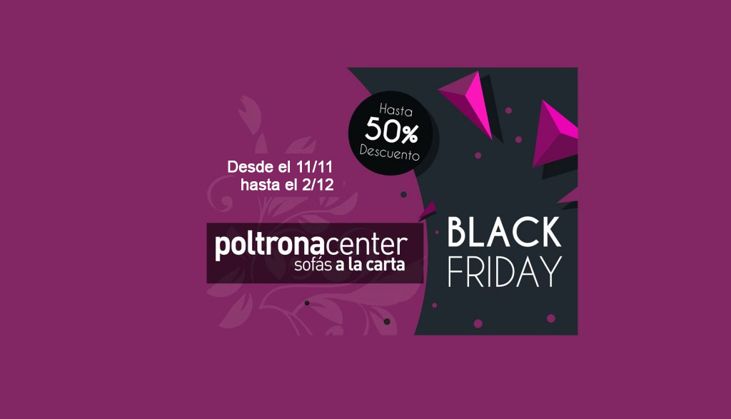 Black Friday de sofas, sillones en Madrid