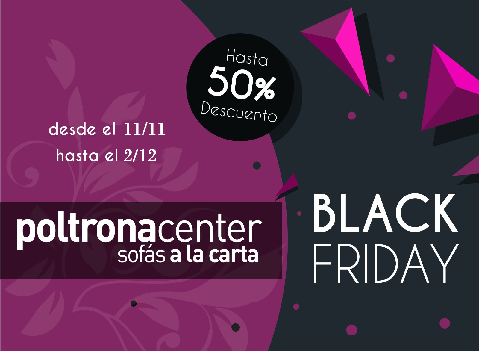 Black Friday Sofás sillones muebles en Madrid