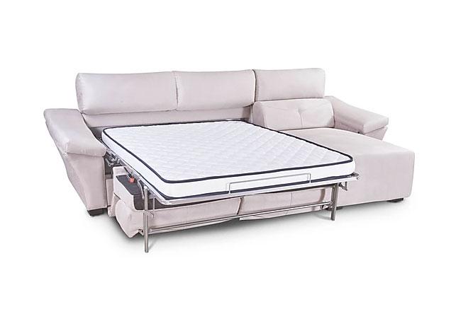Chaise longue cama - Sofa cama Alina (abierto)