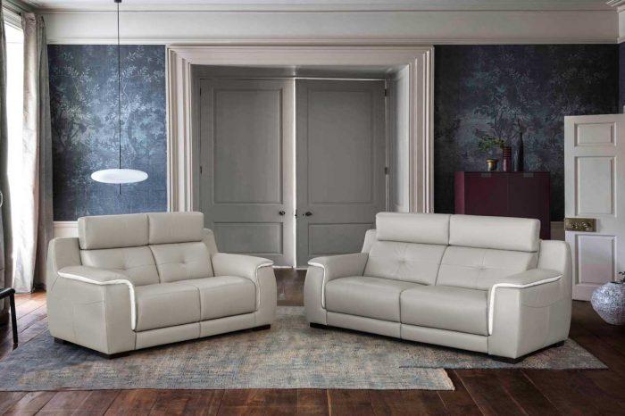 Sofá de piel - Modelo Rubí