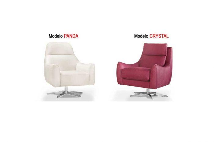 Sofas de piel - Modelos Panda y Crystal 2020